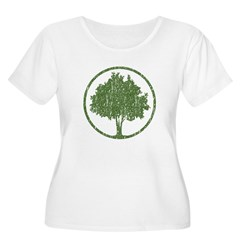 Vintage Tree Women's Plus Size Scoop Neck T-Shirt