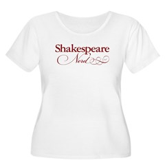 Shakespeare Nerd Products Women's Plus Size Scoop Neck T-Shirt