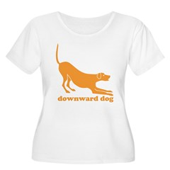 Downward Facing Dog Women's Plus Size Scoop Neck T-Shirt