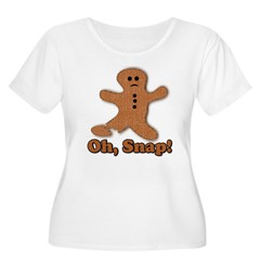 Gingerbread Snap Women's Plus Size Scoop Neck T-Shirt