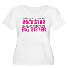 ADULT SIZES rock star big sister Women's Plus Size Scoop Neck T-Shirt
