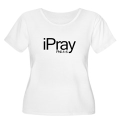 1ipray Women's Plus Size Scoop Neck T-Shirt