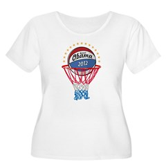 BASKETBALL SHIRT black Women's Plus Size Scoop Neck T-Shirt