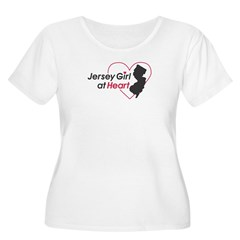 Jersey Girl At Hear Women's Plus Size Scoop Neck T-Shirt
