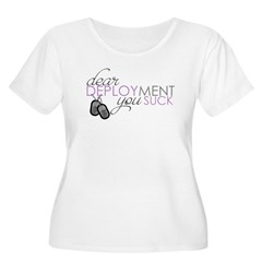 Dear Deploymen Women's Plus Size Scoop Neck T-Shirt