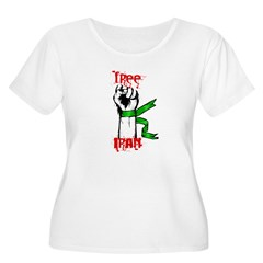 Free Iran Women's Plus Size Scoop Neck T-Shirt