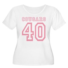 Cougars 40 Women's Plus Size Scoop Neck T-Shirt