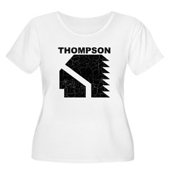 Thompson High Warriors Women's Plus Size Scoop Neck T-Shirt