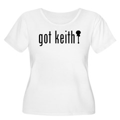 gotkeith Women's Plus Size Scoop Neck T-Shirt