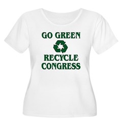 Go Green - Recycle Congress Women's Plus Size Scoop Neck T-Shirt