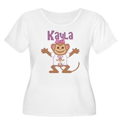 Little Monkey Kayla Women's Plus Size Scoop Neck T-Shirt