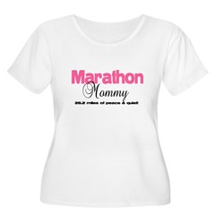 Marathon Mommy Peace Quie Women's Plus Size Scoop Neck T-Shirt