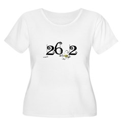26.3 Daisey Design Women's Plus Size Scoop Neck T-Shirt