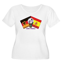 Germany vs. Spain 2010 Soccer Women's Plus Size Scoop Neck T-Shirt