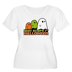 Baby Bump's 1st Halloween Women's Plus Size Scoop Neck T-Shirt
