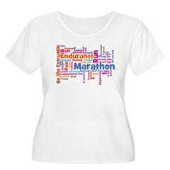 Runner Jargon Women's Sports T-Shirt Women's Plus Size Scoop Neck T-Shirt