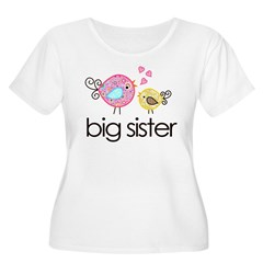 MASTER whimsy birds front no personalization Women's Plus Size Scoop Neck T-Shirt