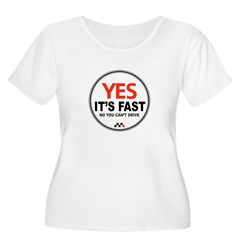 Yes It's Fas Women's Plus Size Scoop Neck T-Shirt