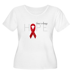 There is Always Hope P.E. Women's Plus Size Scoop Neck T-Shirt