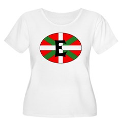 E Flag Women's Plus Size Scoop Neck T-Shirt