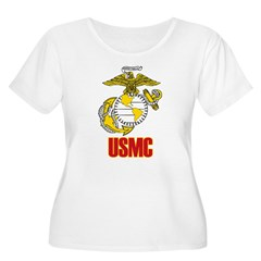United States Marine Corps Women's Plus Size Scoop Neck T-Shirt