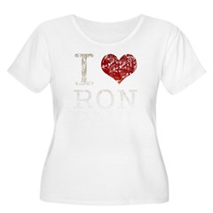 I heart Ron Paul Women's Plus Size Scoop Neck T-Shirt