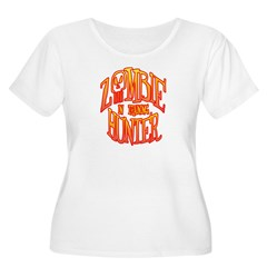Zombie Hunter In Training Women's Plus Size Scoop Neck T-Shirt