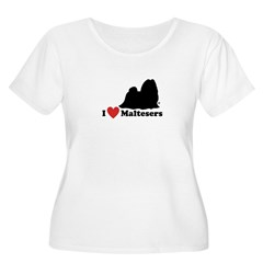 I love Maltesers Women's Plus Size Scoop Neck T-Shirt