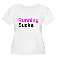 Running Sucks Women's Plus Size Scoop Neck T-Shirt