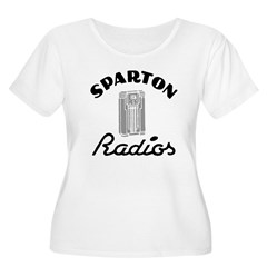 Sparton Radios Women's Plus Size Scoop Neck T-Shirt