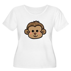 Monkey Face Women's Plus Size Scoop Neck T-Shirt
