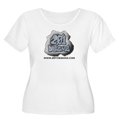 201Designz Gear Women's Plus Size Scoop Neck T-Shirt