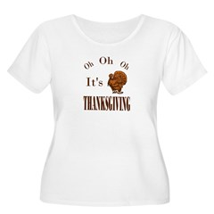 It's Thanksgiving! Women's Plus Size Scoop Neck T-Shirt