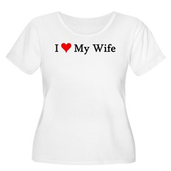 I Love My Wife Women's Plus Size Scoop Neck T-Shirt