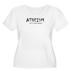 ATHEISM Women's Plus Size Scoop Neck T-Shirt