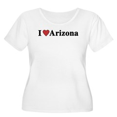 I Love Arizona Women's Plus Size Scoop Neck T-Shirt
