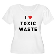 toxic_01f.jpg Women's Plus Size Scoop Neck T-Shirt