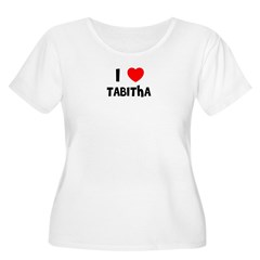 I LOVE TABITHA Women's Plus Size Scoop Neck T-Shirt