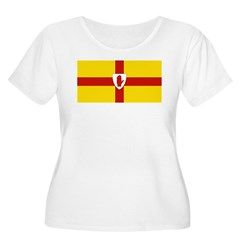 Ulster Flag Women's Plus Size Scoop Neck T-Shirt