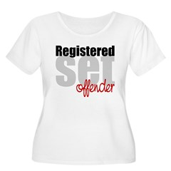 Registered Set Offender Women's Plus Size Scoop Neck T-Shirt