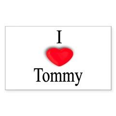 Tommy Rectangle Sticker (Rectangle 10 pk)