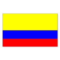 Colombia Flag Rectangle Sticker (Rectangle 10 pk)