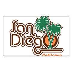San Diego California Rectangle Sticker (Rectangle 10 pk)