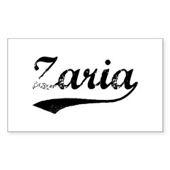 Vintage Zaria Sticker (Rectangle 10 pk)