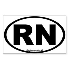 Registered Nurse Oval Sticker (Rectangle 10 pk)