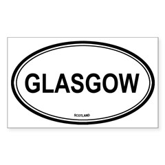 Glasgow, Scotland euro Oval Sticker (Rectangle 10 pk)