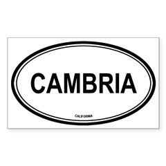 Cambria oval Oval Sticker (Rectangle 10 pk)