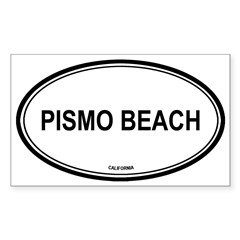 Pismo Beach oval Oval Sticker (Rectangle 10 pk)