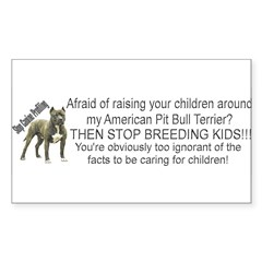"""Pit Bull"" Sticker (Rectangle 10 pk)"