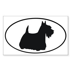 Scottish Terrier Oval Sticker (Rectangle 10 pk)